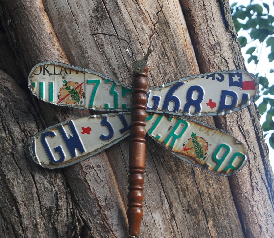 Dragonfly Made From Discarded License Plates Repurposed Life