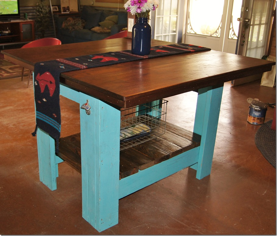Kitchen Island Out Of Pallets: Kitchen Island Born Using Pallets And Rough Cut Walnut