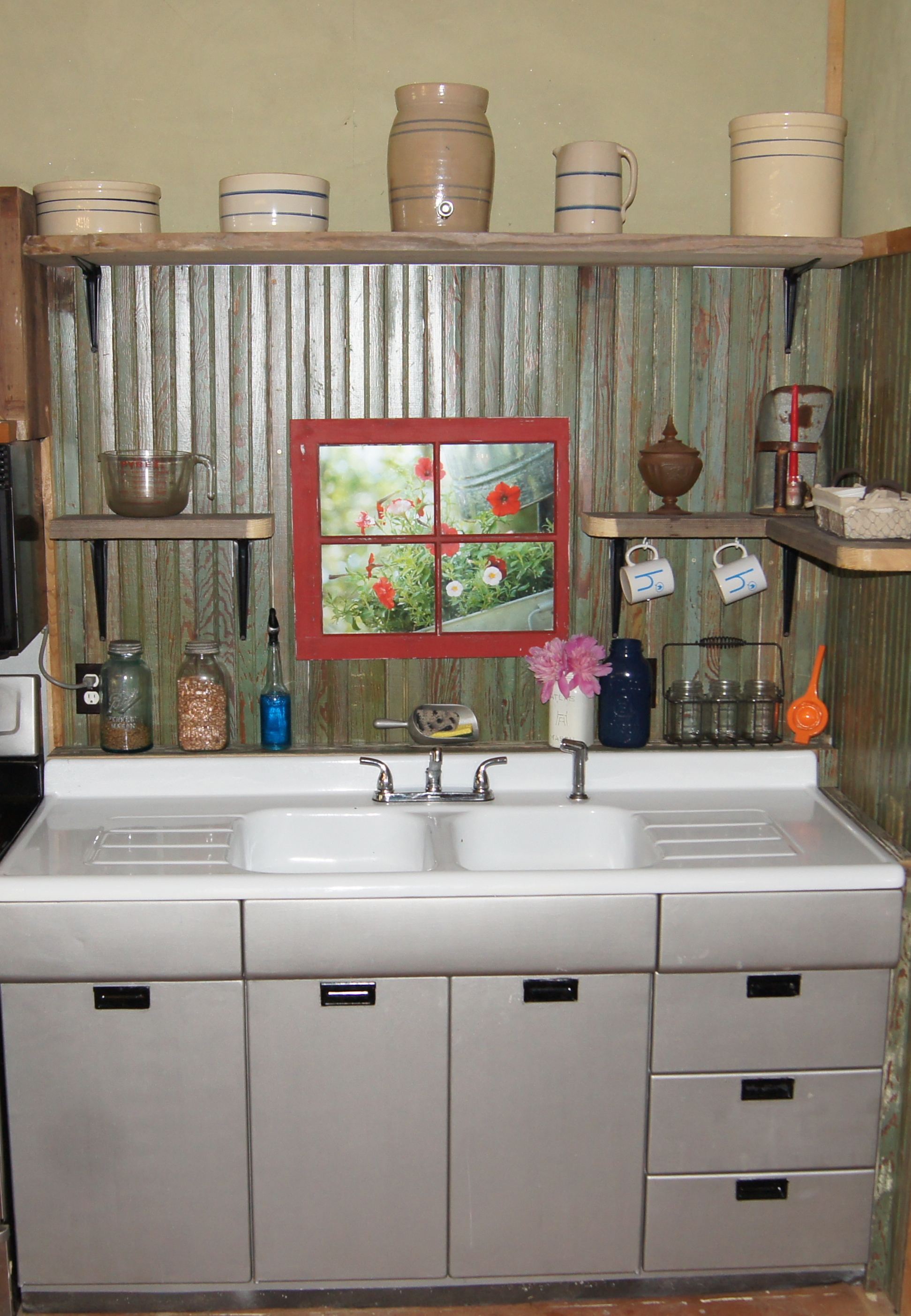 Small rustic kitchen makeover repurposed life for New home diy