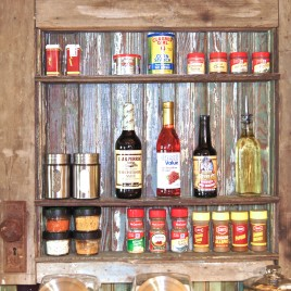 Old Weathered Door Spice Rack