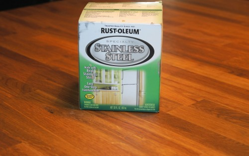 Rustoleum paint used in makeover