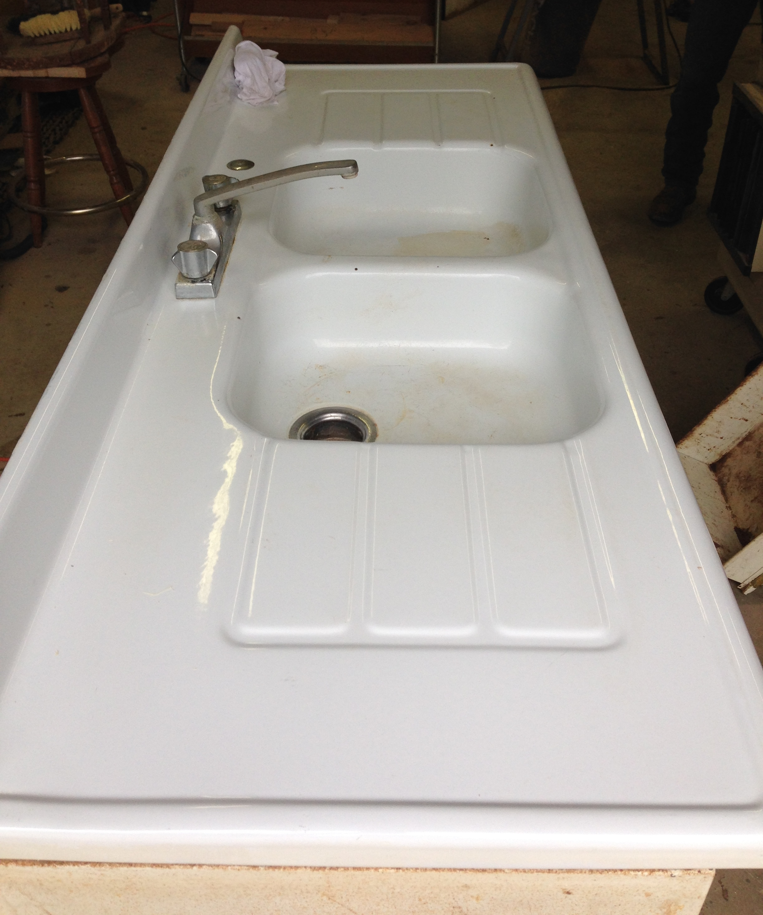 Metal Sink Cabinet Small Rustic Kitchen Makeover Repurposed Life